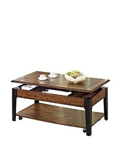 ACME Furniture Coffee Table With Lift Top, Brown/Black