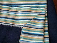 The Craft Patch: Self-Bound Flannel Baby Blanket