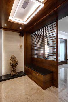 Entrace foyer: corridor & hallway by cubism - Couloir Pooja Room Design, Foyer Design, House Interior, Room Door Design, Home Entrance Decor, Living Room Partition Design, Home Interior Design, House Interior Decor, Pooja Room Door Design