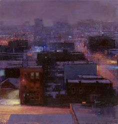 """Andrew Gifford, artist, """"Blizzard from my hotel window, Queens III"""""""
