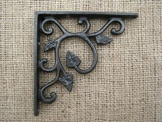 Distinctive hand forged antique cast iron shelf brackets produced by traditional methods. No artificial coatings are used giving them a living finish and allowing them to age naturally. This creates an antique feel, making them perfect for creating a traditional feel. | eBay!