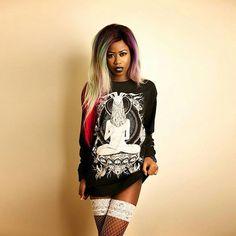 "CRMC X @vividblackartistry ""TEM.ple O.mnium H.ominum P.ads AB.ba"" Longsleeve Tall Tee Available at www.crmc-clothing.co.uk   WE SHIP WORLDWIDE Model - The Hot Cocoa Photo - Pix Elation #vixen #raindowhair #pastelhair #alternative #pastelgoth #fashionstatement #pastelgothgirl #hairenvy #fashionista #fashion #fashionblogger  #alternativeblackgirl #blackmodel #fashionblog #beautifulblackwomen #cute #need #beautiful #want #fashionista #style #alternativegirl #blackwear #iloveblack #love"