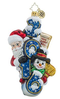 Christopher Radko Sweeping in the New Year Brilliant Treasure 2016 Christmas Ornament