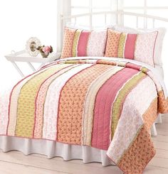 I came across this quilt as I was googling Rag Quilts.  I love it!   This one is from  Bella Home Fashions  called Alison Chic Pink Peach Gr...