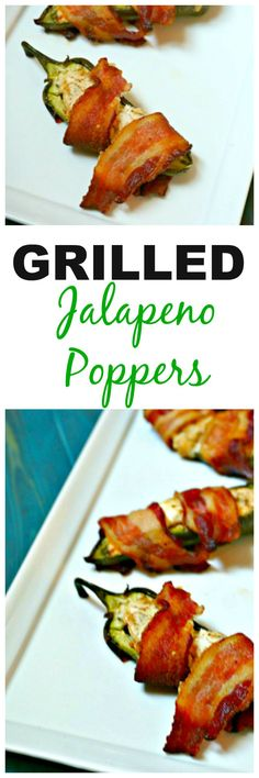 Grilled Jalapeno Poppers: Spicy jalapenos are stuffed with a smoky cream cheese…