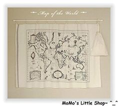 "Quality Shabby Chic Cotton/Linen FABRIC PANEL---Large Vintage Retro ""Map of the World"" Print MoMo's Little Shop http://www.amazon.co.uk/dp/B00TO0PH8W/ref=cm_sw_r_pi_dp_4Pacvb1BW4JP9"