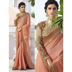 Here is a graceful collection bollywood saree of contemporary style heavy traditional bollywood saree for all you ladies who love to royal elite attires. The color combinations and patterns are also equally delightful. (Slight variation in color, fabric & Bollywood Designer Sarees, Indian Designer Sarees, Bollywood Saree, Phulkari Saree, Salwar Kameez, Silk Sarees, Ethnic Sarees, Indian Sarees, Pakistani