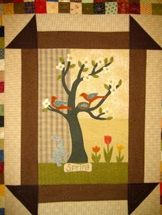 Close up of Jan's birthday quilt. Spring.