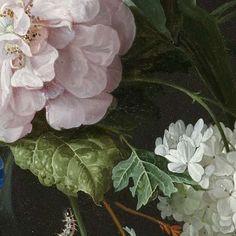 Stilleven met bloemen in een glazen vaas, Jan Davidsz. de Heem, 1650 - 1683 - Flowers in a vase-Verzameld werk van El Blog de La Tabla - Alle Rijksstudio's - Rijksstudio - Rijksmuseum