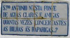 Tile Panels, Portuguese Tiles, Santos, Popular Proverbs, Common Sayings, Saint Antonio, Decorative Plates, Altars, Sun