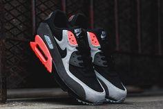 Nike Air Max 90 (Ash/Total Crimson) - Sneaker Freaker