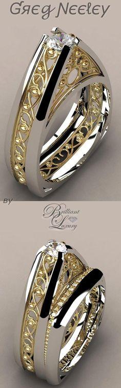 Brilliant Luxury ♦ Greg Neeley Pinnacle Wedding Set