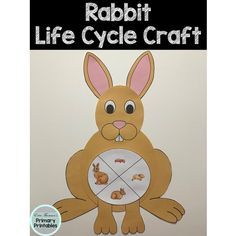 Craft includes: life cycle charts (with and without pictures) head body ears snout arms legs Elementary Science, Teaching Science, Science Activities, Elementary Schools, Cycle Pictures, Life Cycle Craft, Rabbit Life, Cut And Paste, Life Cycles