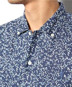coen MENS(コーエン メンズ)の綿麻小花柄半袖シャツ(シャツ・ブラウス)|詳細画像