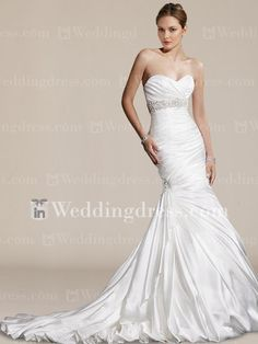 Elegant Unique Mermaid Wedding Dress. Re-pin if you like. Via Inweddingdress.com #weddingdress #mermaid