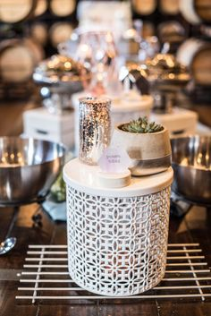 Wedding Details and Decor for a Spring Outdoor Wedding at Crooked Willow Farms in Larkspur, CO Wedding Buffet Decor Wedding Crafts, Wedding Decorations, Wedding Ideas, Table Decorations, Willows Farm, Wedding 2017, Farms, Wedding Details, Buffet