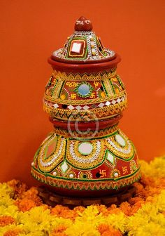 Navratri And Diwali Darba Pot Decoration Ideas Wallpaper
