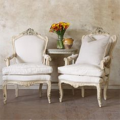 One of a Kind Vintage Armchair Toasted Almond Set Cottage Furniture, Luxury Furniture, Stylish Home Decor, Wingback Chair, Traditional Design, Home Furnishings, Building A House, Family Room, Accent Chairs