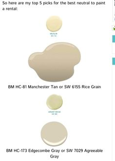 Per Maria Killam Best Neutral Paints Colors For Your Al Ben Moore Paint Muslin Manchester Tan Or Very Similar Sherwin Williams 6155 Rice