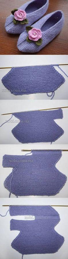DIY Stricken Slippers Verschönern …