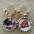 49ers Football Table Decorations, Wine Charms, cupcake toppers, and more