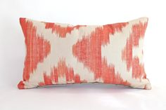 Valentine Pillow Cover in Orange and by ThePillowStudioShop, $55.00