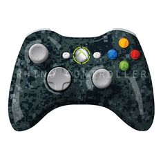 XBOX 360 controller Wireless Glossy WTP-485-Tiger-Stripe-Navy-BDU Custom Painted- Without Mods