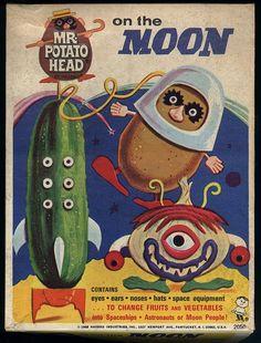 atomic-flash: Mr. Potato Head On The Moon (1968)