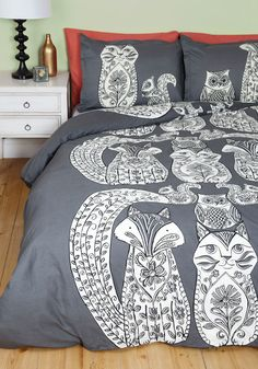 Tails Before Bedtime Duvet Cover in Full/Queen at modcloth