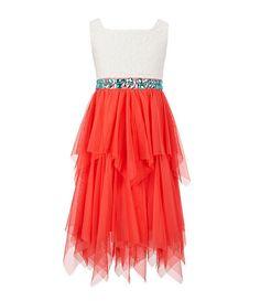 Tween Diva 7-16 Lace & Tulle Dress