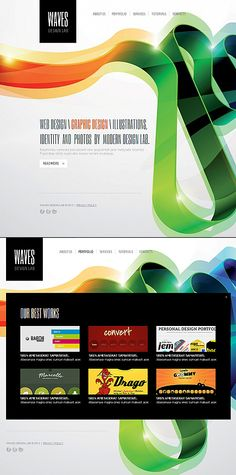 Waves Design Moto CMS HTML Templates by Delta
