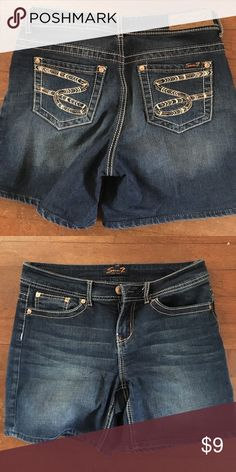 Jeans shorts Size 8 great condition, don't fit me anymore.   Price drop 7.00! Seven7 Shorts Jean Shorts