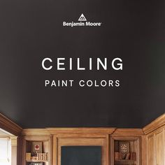 We love the classic white ceiling, however an unexpected ceiling paint color can enhance the character of your room in a refreshing, charismatic way. Ceiling Paint Colors, Colored Ceiling, White Ceiling, Interior House Colors, Interior Design, Benjamin Moore, Classic White, Future House, Wave