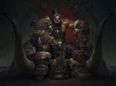 🎨Grom·Hellscream 🖌Artist - Weibin Tang 🔥Tag be featured! Fantasy Rpg Games, Fantasy Races, Fantasy Characters, Grom Hellscream, Grommash Hellscream, Warcraft Art, World Of Warcraft, Character Art, Character Design