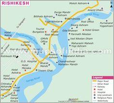 Map of Rishikesh