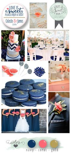 wedding-color-inspiration-board-navy-gold-coral