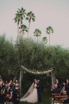 Gorgeous, simple ceremony backdrop