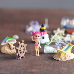 Seabeach Miniature Ornaments Kit Set for DIY Fairy Garden Dollhouse D__cor 7 Pieces >>> Awesome product. Click the image : home diy garden