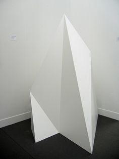 White geometric form