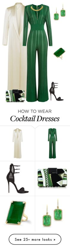 """outfit  2586"" by natalyag on Polyvore featuring Barbara Casasola, Balmain, Emilio Pucci and Giuseppe Zanotti"