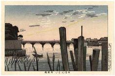 Kobayashi Kiyochika Title:Senbongui and Ryogokubashi Bridge (1000 Poles) — 千ほんくい両国橋
