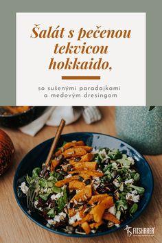 Jednoduchý šalát s pečenou tekvicou hokkaido, na ktorom si pochutia aj detičky od 2 rokov a, samozrejme, všetci vegetariáni. Food And Drink, Ethnic Recipes, Gourmet, Hokkaido Dog