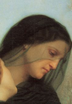 All Souls Day... (Le Jour des morts - The Day of the Dead), 1859, detail William-Adolphe Bouguereau