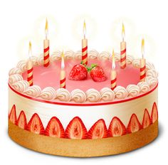 Strawberry Cake PNG Clipart Picture