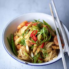 Has anyone made these Singapore noodles yet? It's a recipe from my book An awesome post workout meal and it's #leanin15