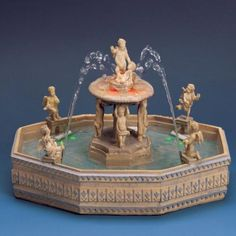 My real working fountain for my large dollhouse.  People are fascinated by this!  It is a great effect!