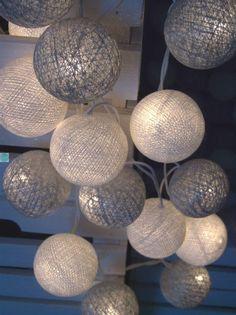 Qule Lampki Cotton Ball Lights Księżycowy Blask 10 qul | Kule bawełniane | Cotton Balls Light