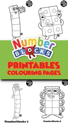 15 Best Numberblocks images | Coloring for kids, Printable ...