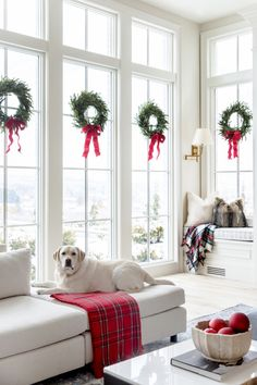 Home Decorated for Christmas My Home Decorated for Christmas. - Pink Peonies by Rach ParcellMy Home Decorated for Christmas. - Pink Peonies by Rach Parcell Noel Christmas, All Things Christmas, Winter Christmas, Christmas Ideas, Christmas Wreath On Windows, Home Decor For Christmas, Wreaths In Windows, Decorating For Christmas, Tartan Christmas