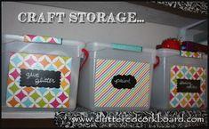 Cluttered Corkboard: My Bargain Bins for Craft Storage